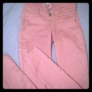 Adorable soft pink size 3 skinny jeans